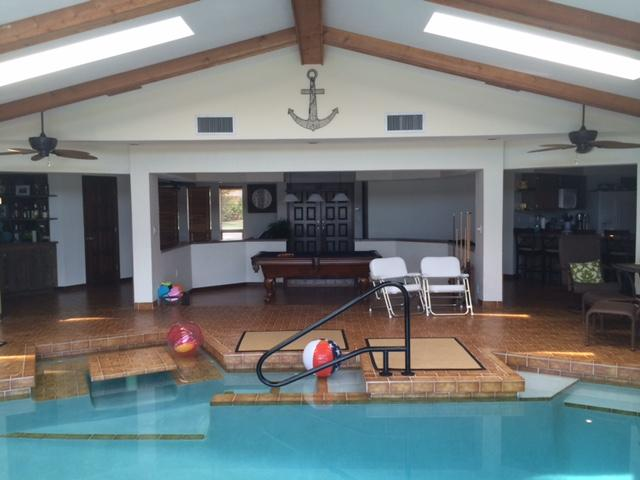 Indoor pool and pool table area - Sailor's Retreat Indoor Saltwater Pool! 3150 sqft! - Cape Coral - rentals