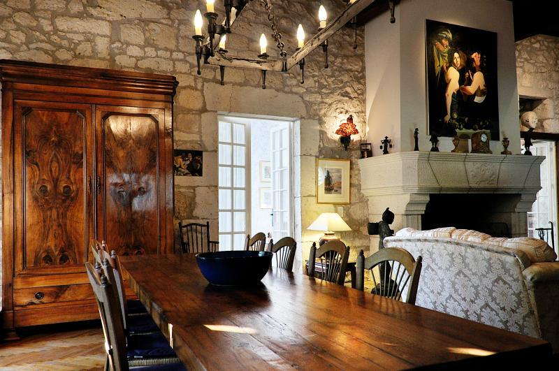Dining - Historic Villa 4 bedrooms with pool SW  France - Montaigu-de-Quercy - rentals