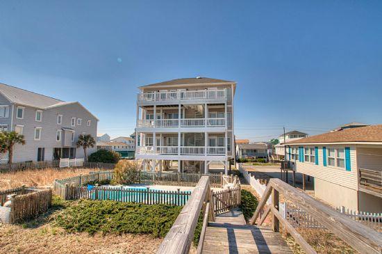 A Sunrise Celebration- OCEANFRONT 6 BEDROOMS POOL - Image 1 - Carolina Beach - rentals