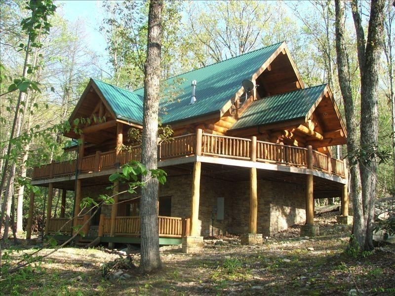 "Bliss cabin exterior - 2 Acres***156""Theater***Luxury*** Firepit***Stream - Sevierville - rentals"