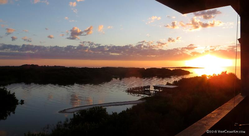 Cedar Key Tranquility - Sunrise in August as viewed from our balcony - Tranquility - Best View in Town! NO SERVICE FEES! - Cedar Key - rentals