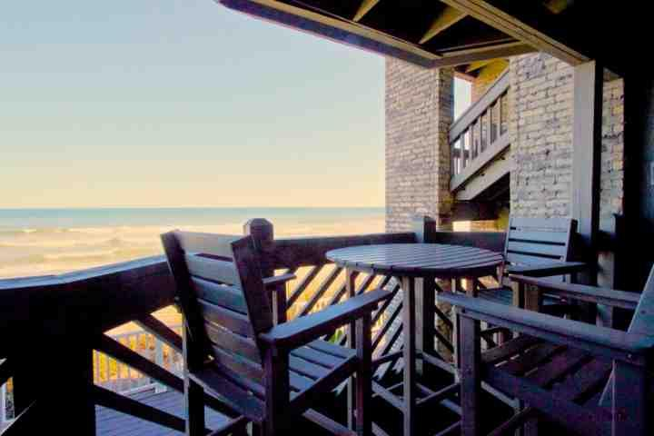 Enjoy this great oceanfront view from comfortable balcony furniture. - Maritime Place First Floor Oceanfront - Updated! - Garden City - rentals