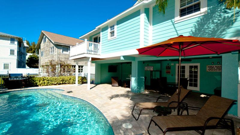 Beautiful Pool with Covered Seating - Absolutely Anna: 2BR Pool Home Steps from Beach - Anna Maria - rentals