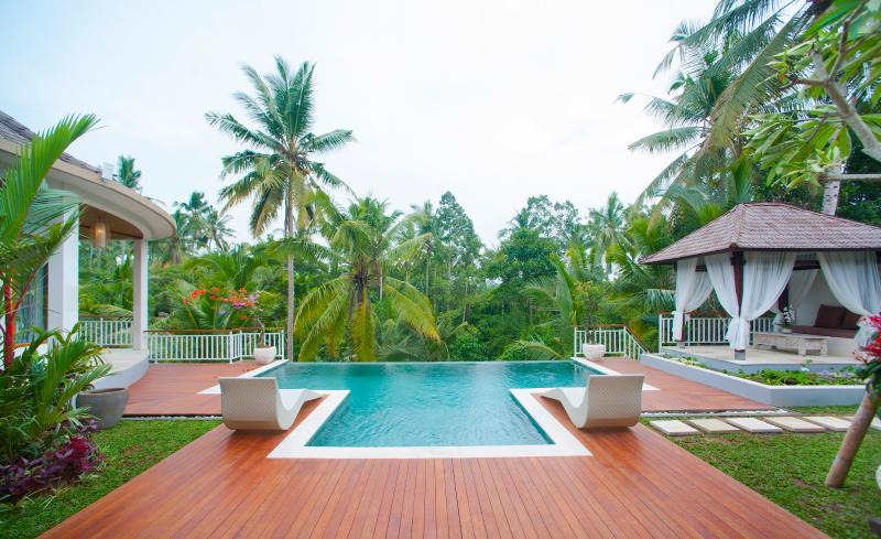View over pool to valley - Villa Kolibri Saudara 2 Bed Luxury! - Ubud - rentals