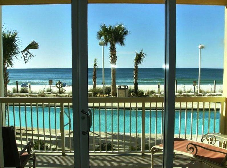 Oceanfront and Pool view - even from inside the condo! CALYPSO FIRST FLOOR FUN! - CALYPSO FIRST FLOOR FLIP FLOPS FAMILY FUNSPOT- CHECK OUT THE FREEBIES! - Panama City Beach - rentals
