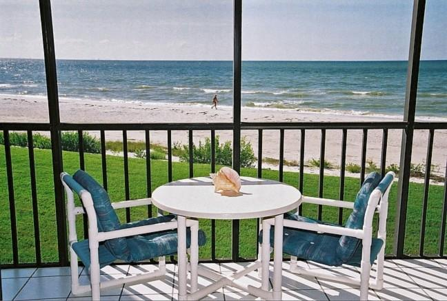 Actual View from Lanai - Sanibel Island Sundial Resort A-206 - Direct Beach Front -20 Ft to Beach- Sundial Resort - Sanibel Island - rentals