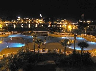 Barefoot Pool View at night - 3BR/3BA W/ POOL & WATERWAY VIEW - North Myrtle Beach - rentals