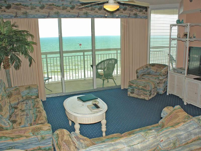 Living room with flat screen TV - Adorable Oceanfront Condo Call Now! - North Myrtle Beach - rentals