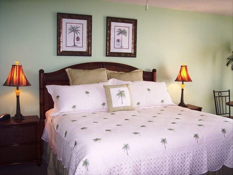 Master bedroom with 1 king and flat screen TV and DVD player - Luxury Oceanfront Jewel with 3D TV *Great Rates! - North Myrtle Beach - rentals