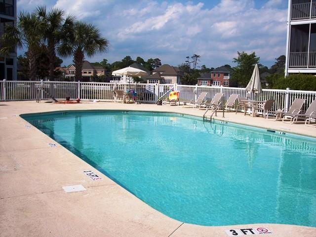 View of pool from balcony - Adorable 2BR/2BA Villa - 6 Pools,Near Ocean! - North Myrtle Beach - rentals