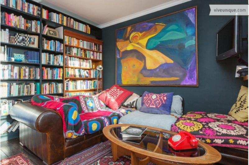 Reception - A colourful four-bedroom flat in West Hampstead. - London - rentals