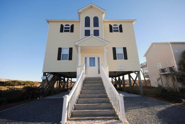 Front Side of Home - Just Chilln - North Topsail Beach - rentals