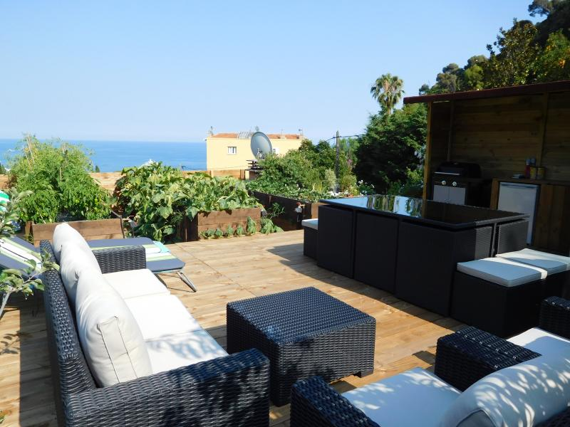 Penthouse with roof top terrace, jacuzzi, barbecue and 360° views - Eze mer 4 BD rooftop terrace sea & mountain views - Eze - rentals