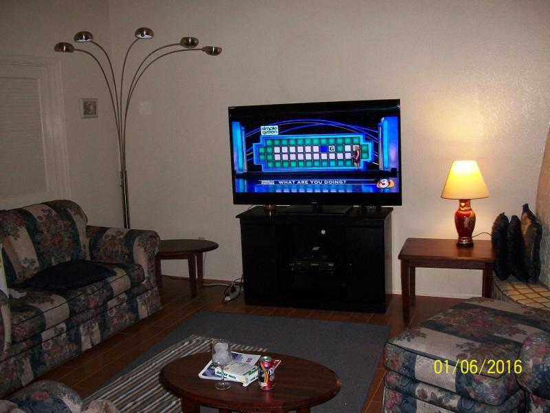 Living Room with 60 inch TV - LUXURY 2 BED/2 BATH N. PHOENIX CONDO , GARAGE, WOW - Phoenix - rentals