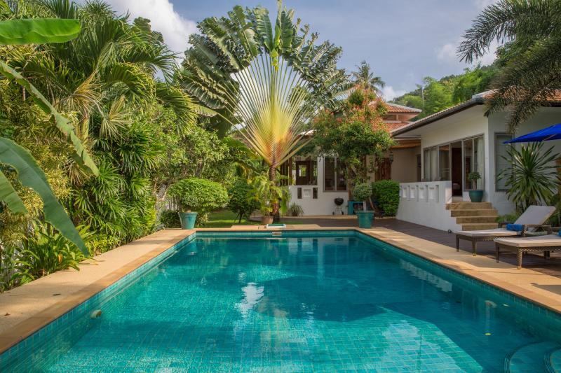 Baan Jasmine Bali Stone Pool and beautiful Travellers Palm - Baan Jasmine Luxury Garden Villa, Bophut Koh Samui - Bophut - rentals