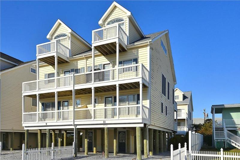 Beautiful 4 bedroom townhouse 1/2 block to the beach. Great views of the ocean and sunsets! - Image 1 - Cedar Neck - rentals