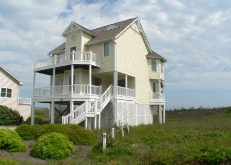 Property from Street Side - Sea Suns Best - North Topsail Beach - rentals