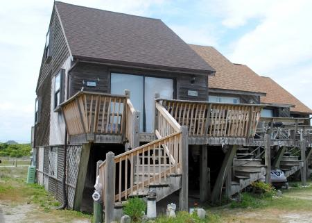 Front Side of Home - Parking Underneath Unit - How Sweet It Is - North Topsail Beach - rentals