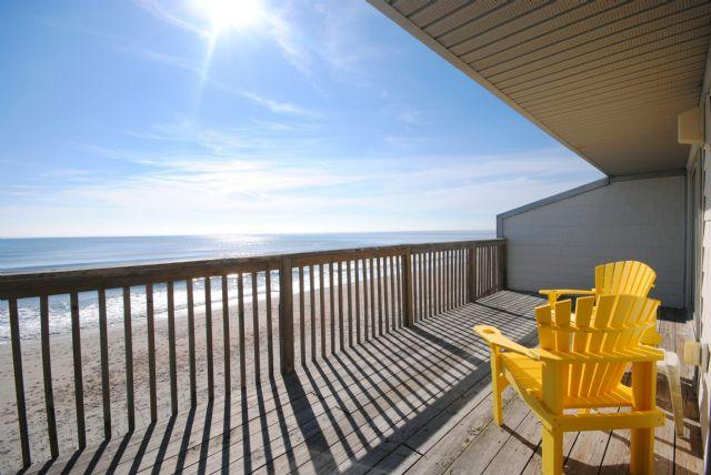 View from back deck - Queen's Grant F-220 - Topsail Beach - rentals