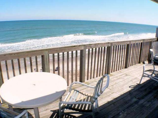 Ocean View Balcony - Queen's Grant E-217 - Topsail Beach - rentals