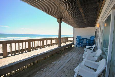 View from balcony - Queen's Grant E-117 - Topsail Beach - rentals