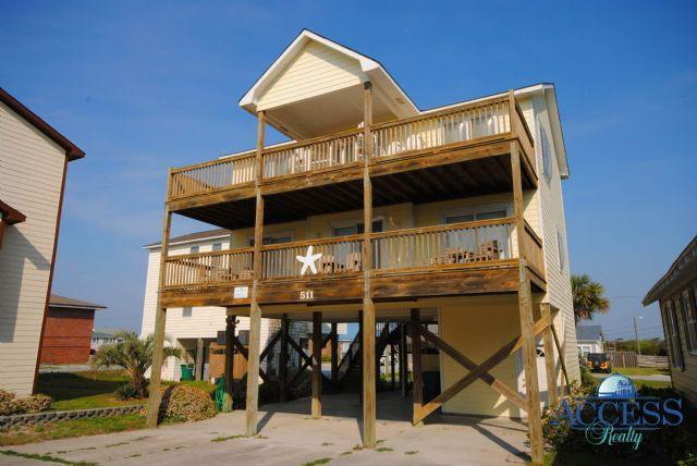 Front of House - Starfish - Surf City - rentals