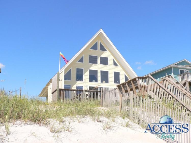Oceanfront View of Home - Here Comes The Sun - Surf City - rentals