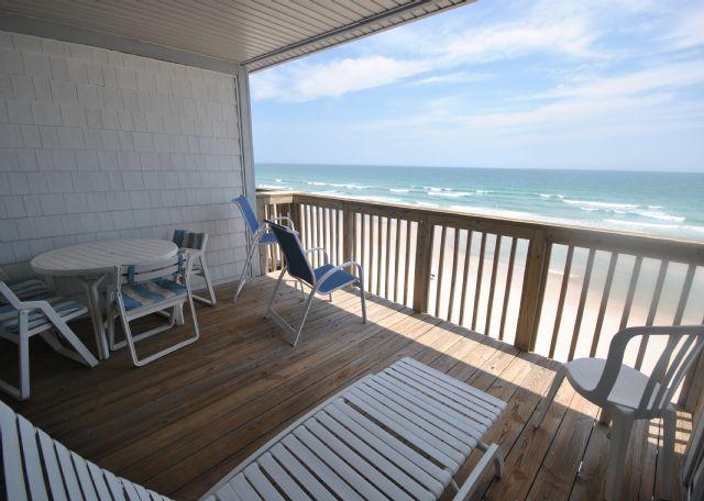 Oceanfront Deck - Queen's Grant A-302 - Topsail Beach - rentals
