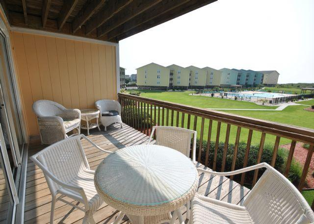 Private balcony with beautiful view - Surf Condo 422 - Surf City - rentals