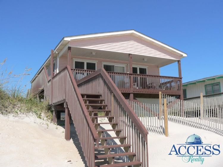 Front Side of Home from Beach - Sea Stilts - North Topsail Beach - rentals