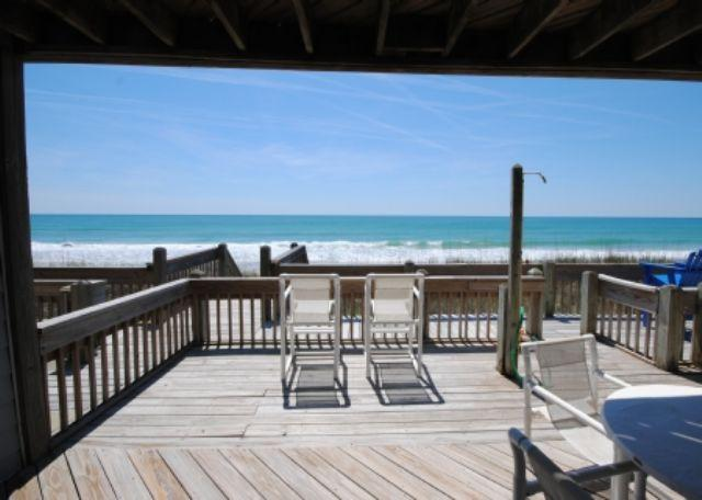 View from Living room - Turtle Cove 908C - Son Burn - Surf City - rentals