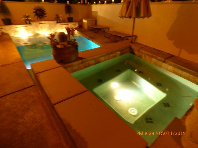 Ready for you. Pool 84 degrees, Spa 101 degrees. - The Desert Tripl Resort Home W/Pool & Hot Spa - Indio - rentals