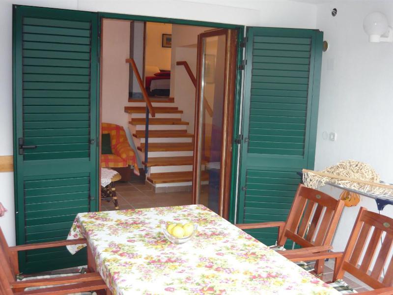 A2(4+1): terrace - 2302 A2(4+1) - Cove Ostricka luka (Rogoznica) - Cove Kanica (Rogoznica) - rentals