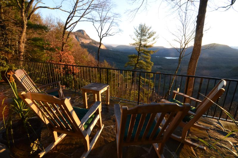 View from the veranda in early spring - BOWERY LODGE: luxury retreat with sweeping views - Highlands - rentals