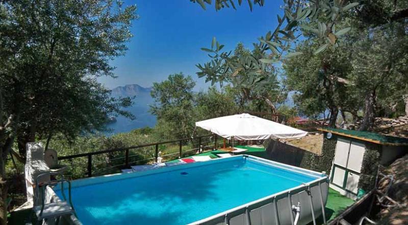 01 Terrazza su Capri shared pool area - TERRAZZA SU CAPRI - Massa Lubrense - Sorrento area - Massa Lubrense - rentals