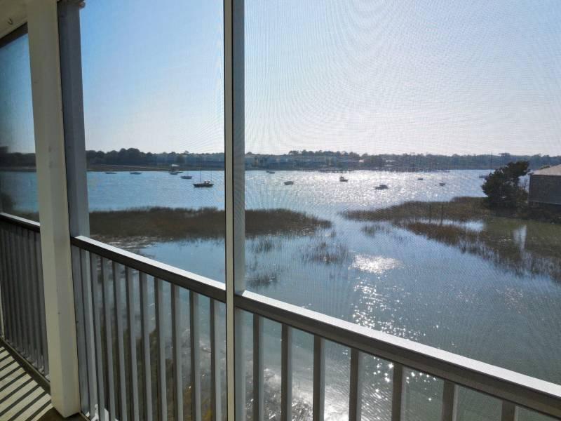 Beautiful River Views!! - Turn of the River 3H - Folly Beach, SC - 2 Beds BATHS: 1 Full - Blue Mountain Beach - rentals