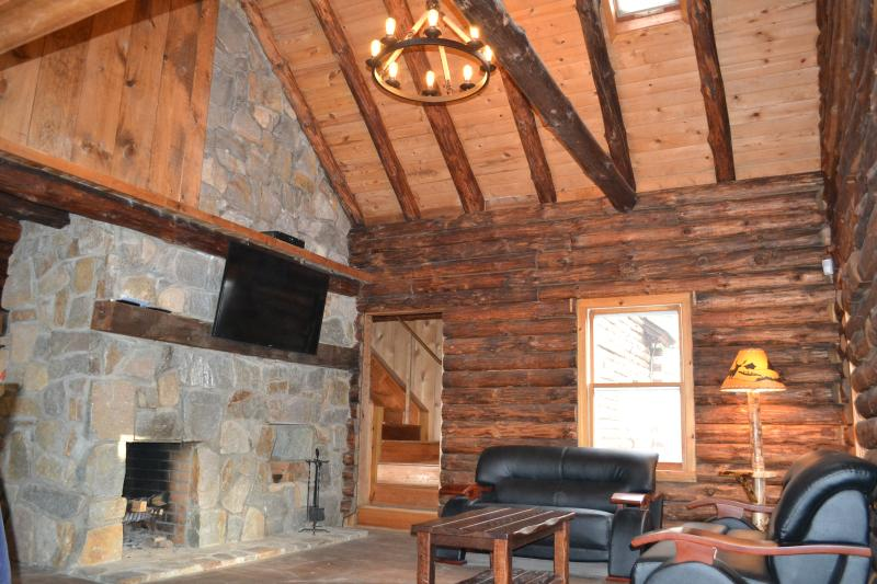 Living room - Riverfront Cozy Rustic Lodge - Tamiment - rentals