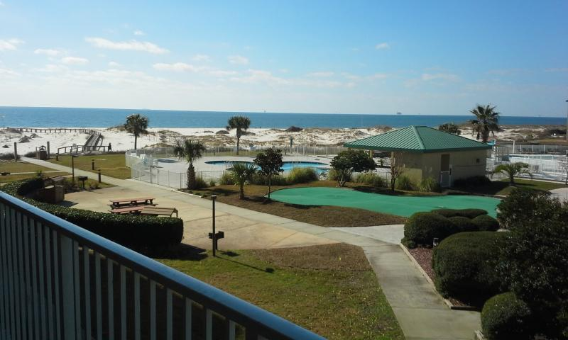 balcony view from our 2 bed 2 bath condo - Will MEET/BEAT any comparable deal-- Call to book - Gulf Shores - rentals