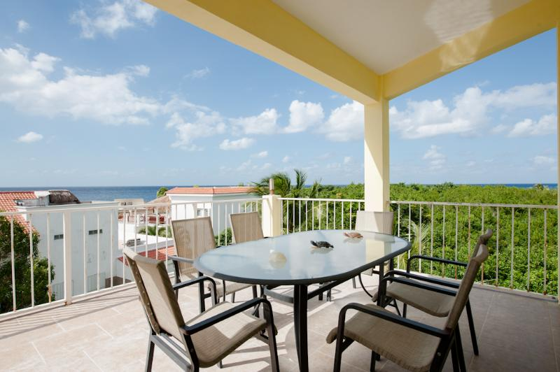 Morning coffee or night cap, go perfectly with this view. - Affordable luxury in paradise, Private pier -D1 - Cozumel - rentals