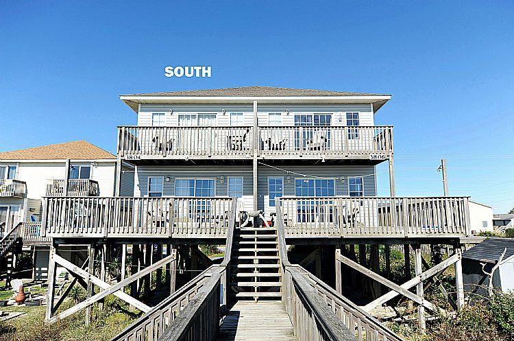 South Side Exterior - Bookhardt South - SUMMER SAVINGS UP TO $100! Breathtaking View, Pet Friendly, Oceanfront - North Topsail Beach - rentals