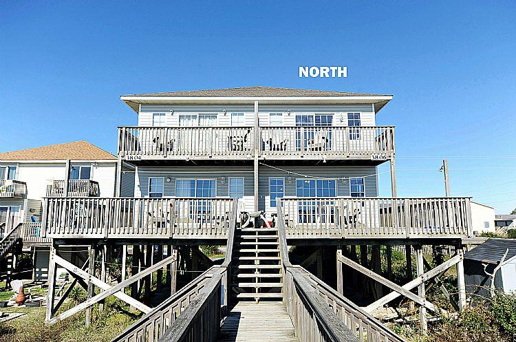 North Side Exterior - Gimmie Shelter North - Formerly Bookhardt -  FULL RENOVATIONS FOR 2017!! - North Topsail Beach - rentals
