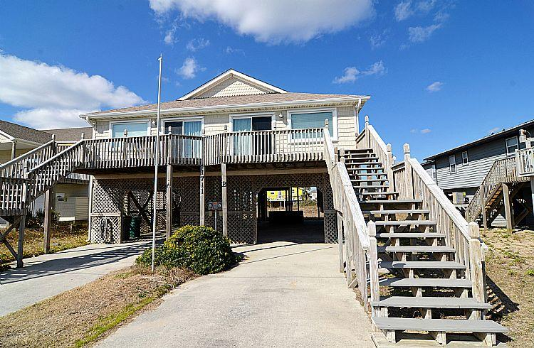Exterior Front - Elysium, REMODELED Contemporary Classic with Ocean View - Surf City - rentals