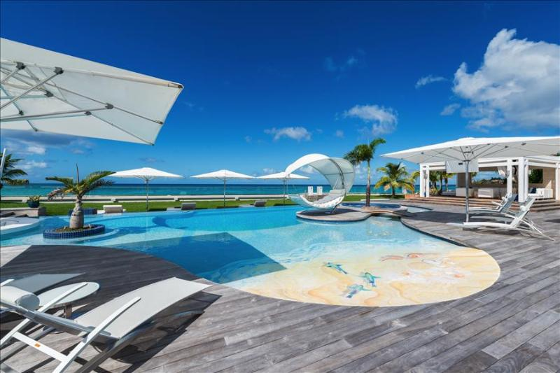 Luxurious six bedroom villa with private chef, heated pool, jacuzzi, in-pool bar at Plum Bay beach - Image 1 - Plum Bay - rentals