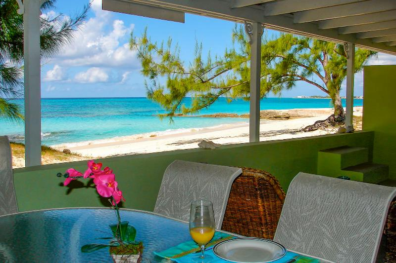 Veranda and view - Crabtree Apartments - Grand Turk - Beachfront - Cockburn Town - rentals