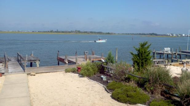 Back Yard with Dock - Best Bayfront View on LBI - Ship Bottom - rentals