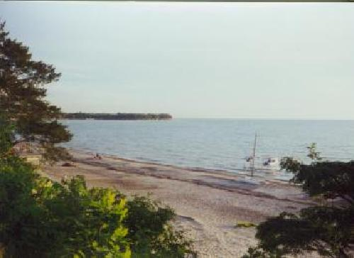 Angola On the Lake Beach- View from House to beach - Lake front 4 BR 1.5 bath beach house Angola OTL - Angola - rentals