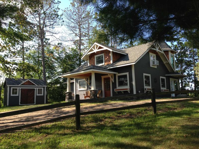 """Fully restored historic Cape-Cod style cottage - """"The Castle House"""" Lake Cottage - Longville - rentals"""