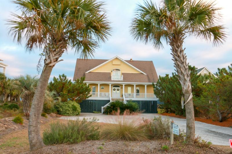 Front Exterior - Oceanfront Home with Large Screen Porch, Views, and Private Beach Access! - Isle of Palms - rentals