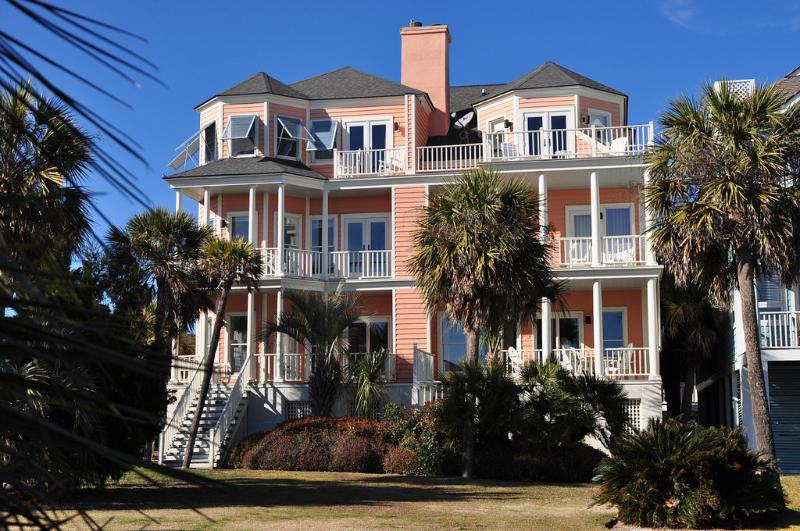 Rear Exterior - Oceanfront in Wild Dunes with Viewing Porches, Pool Access and Sports Card! - Isle of Palms - rentals