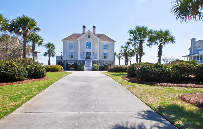 Front Exterior - Oceanfront Home with Pool, Incredible Views, and Private Beach Access! - Isle of Palms - rentals